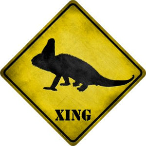 Chameleon Xing Novelty Metal Crossing Sign CX-053