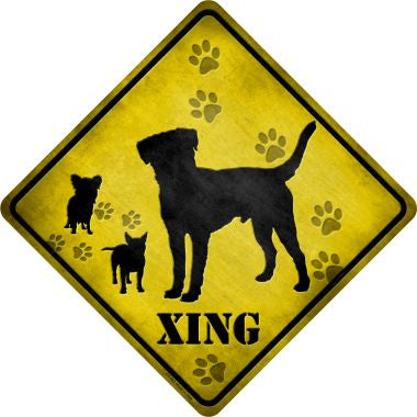 Dogs Xing Novelty Metal Crossing Sign CX-062