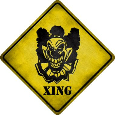 Clown Killer Xing Novelty Metal Crossing Sign CX-068