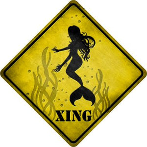 Mermaids Xing Novelty Metal Crossing Sign CX-075