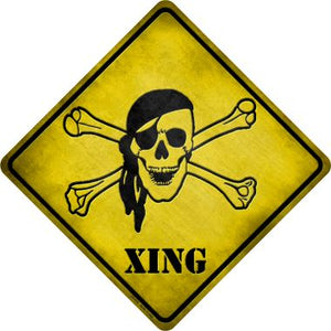 Pirate Xing Novelty Metal Crossing Sign CX-078