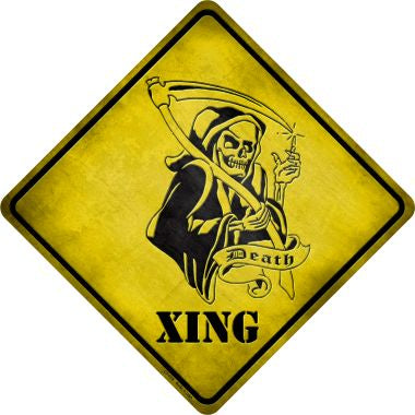 Grim Reaper Xing Novelty Metal Crossing Sign CX-079