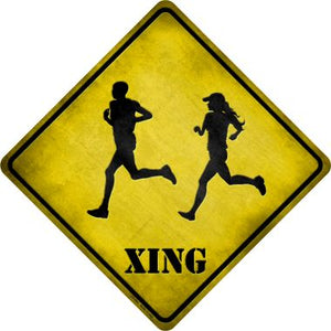 Runners Xing Novelty Metal Crossing Sign CX-083