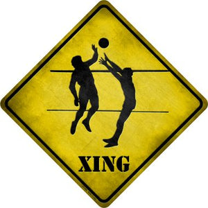 Volleyball Xing Novelty Metal Crossing Sign CX-089