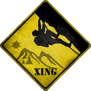 Climbing Xing Novelty Metal Crossing Sign CX-090
