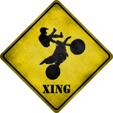 Motorcross Xing Novelty Metal Crossing Sign CX-092