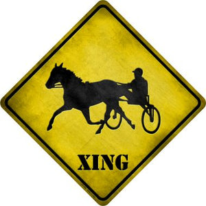 Harness Racing Xing Novelty Metal Crossing Sign CX-099