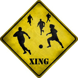 Soccer Xing Novelty Metal Crossing Sign CX-103