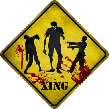 Zombies Xing Novelty Metal Crossing Sign