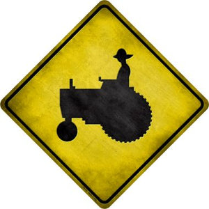Tractor Novelty Metal Crossing Sign CX-111
