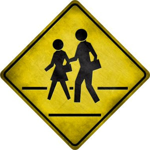 Pedestrian Crossing Novelty Metal Crossing Sign CX-112