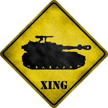 Tank Xing Novelty Metal Crossing Sign CX-122