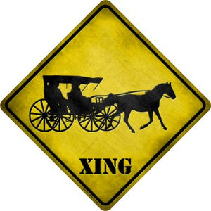 Carriage Xing Novelty Metal Crossing Sign CX-124