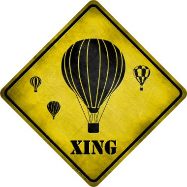 Air Balloon Xing Novelty Metal Crossing Sign CX-125
