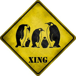 Penguin Xing Novelty Metal Crossing Sign CX-135