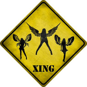 Angels Xing Novelty Metal Crossing Sign CX-138