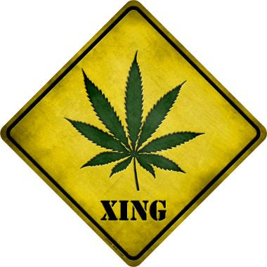 Cannabis Xing Novelty Metal Crossing Sign CX-139