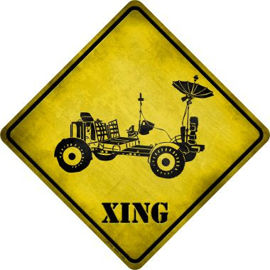 Mars Rover Xing Novelty Metal Crossing Sign CX-147
