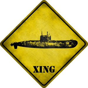 Submarine Xing Novelty Metal Crossing Sign CX-151