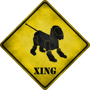 Robot Dog Xing Novelty Metal Crossing Sign CX-156