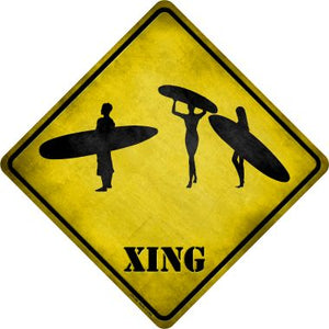 Surfers Xing Novelty Metal Crossing Sign CX-158