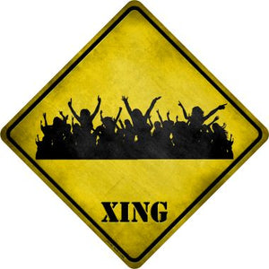 Event Crowd Xing Novelty Metal Crossing Sign CX-160