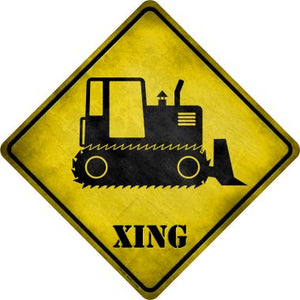 Crawler Tractor Xing Novelty Metal Crossing Sign CX-163