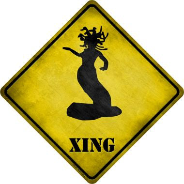 Medusa Xing Novelty Metal Crossing Sign CX-167