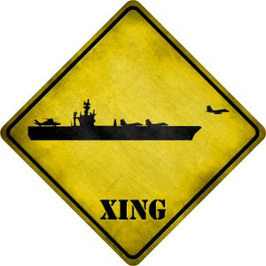 Aircraft Carrier Xing Novelty Metal Crossing Sign CX-175