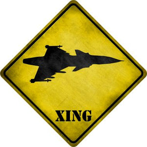 Jet Fighter Xing Novelty Metal Crossing Sign CX-182