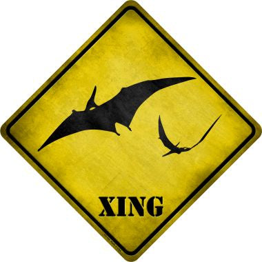 Pterodactyls Xing Novelty Metal Crossing Sign CX-184