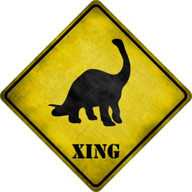 Brontosaurus Xing Novelty Metal Crossing Sign CX-185
