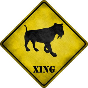 Saber-Toothed Tiger Xing Novelty Metal Crossing Sign CX-187