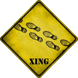 Foot s Xing Novelty Metal Crossing Sign CX-196