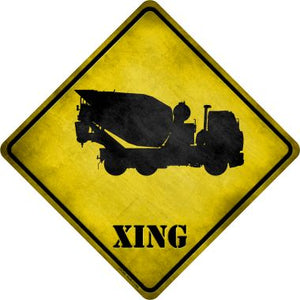 Cement Mixer Xing Novelty Metal Crossing Sign CX-206