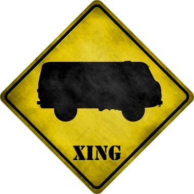 VW Bus Xing Novelty Metal Crossing Sign CX-209