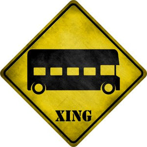 Double-Decker Bus Xing Novelty Metal Crossing Sign CX-211