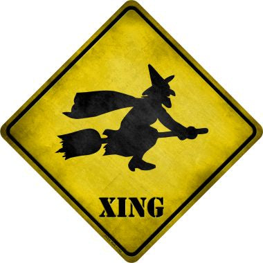 Simple Witch Xing Novelty Metal Crossing Sign