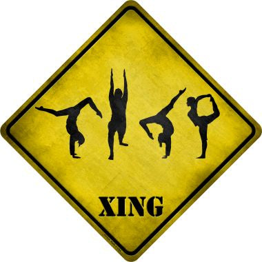 Yoga Group Xing Novelty Metal Crossing Sign CX-224