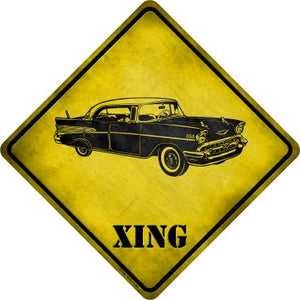 Classic '57 Chevy Xing Novelty Metal Crossing Sign CX-228