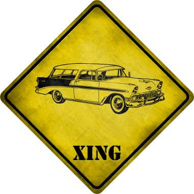 Classic '59 Cadillac Xing Novelty Metal Crossing Sign CX-229