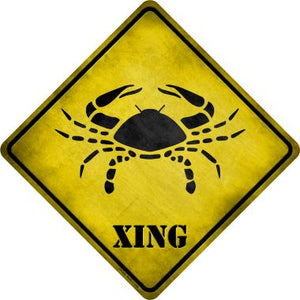 Cancer Zodiac Animal Xing Novelty Metal Crossing Sign CX-239
