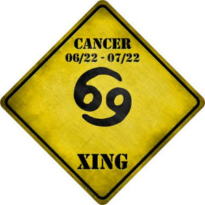 Cancer Zodiac Symbol Xing Novelty Metal Crossing Sign CX-240