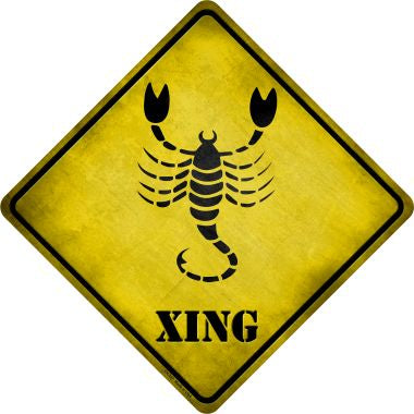 Scorpio Zodiac Animal Xing Novelty Metal Crossing Sign CX-247