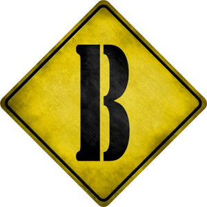 Letter B Xing Novelty Metal Crossing Sign CX-267