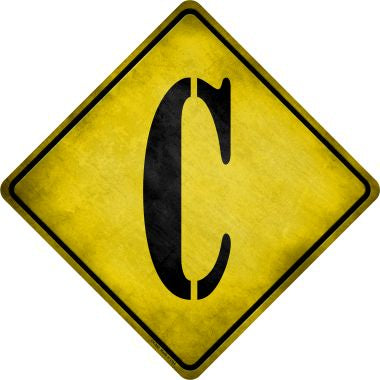Letter C Xing Novelty Metal Crossing Sign CX-268
