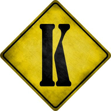 Letter K Xing Novelty Metal Crossing Sign CX-276