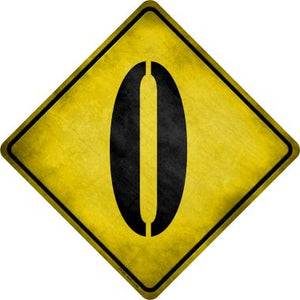 Letter O Xing Novelty Metal Crossing Sign CX-280