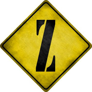 Letter Z Xing Novelty Metal Crossing Sign CX-291