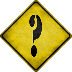 Question Mark Xing Novelty Metal Crossing Sign CX-296